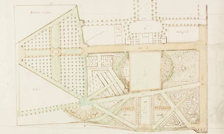 A plan for the garden at Marble Hill attributed to Alexander Pope, drawn in about 1724.