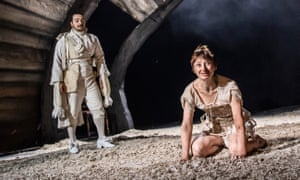 Danny Lee Wynter as Mephistopheles and Jodie McNee as Johanna Faustus in Faustus: That Damned Woman.