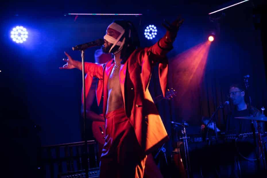 Genesis Owusu performing at Mary's Underground