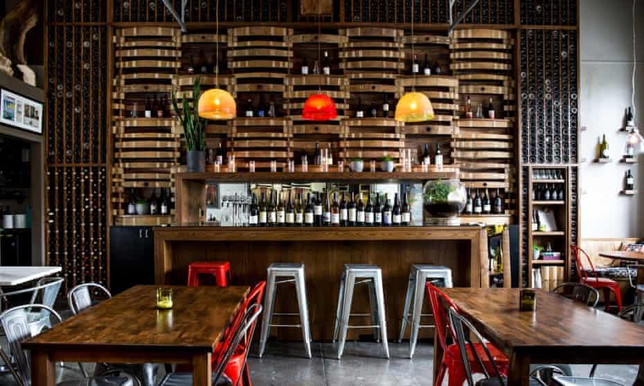 Bar at Southeast Wine Collective, Portland, Oregon