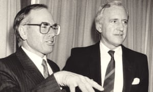 John Howard and with his then deputy, Andrew Peacock, in 1987.