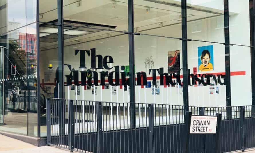 The Guardian office in King's Cross, London.