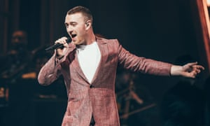 Oddly low key ... Sam Smith performing in Sheffield.