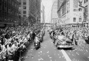 A parade for the Apollo 11 astronauts in New York.