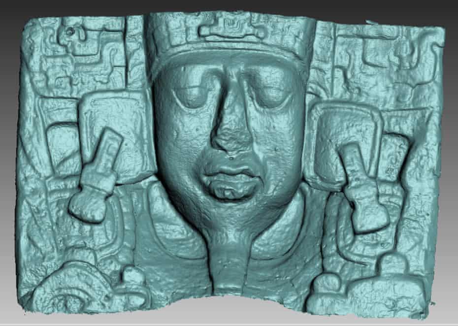 A replica Mayan artefact.