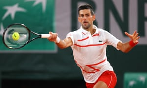 I M Over It Novak Djokovic Says Us Open Exit Is Behind Him After Win Sport The Guardian