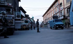 Indian security force personnel in Srinagar