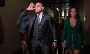 Conor McGregor arrives for UFC 202