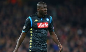 Kalidou Koulibaly played in Napoli's 2-0 defeat to Arsenal on Thursday.