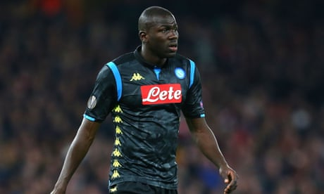 Arsenal investigating video of fan racially abusing Napoli's Kalidou Koulibaly