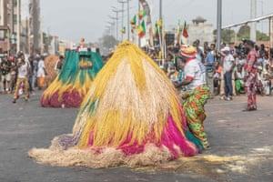 Devotees dressed as Zangbeto