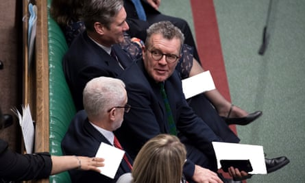Tom Watson on the Labour front bench.