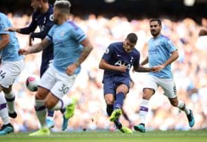 Tottenham Hotspur's Erik Lamela scores.