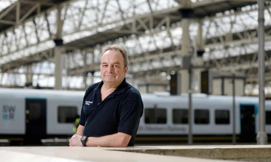 'I had never thought of being a train driver' … Jack Rawlinson at Waterloo station.