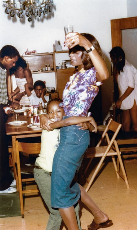 Naomi Campbell dancing with her mother Valerie in 1974