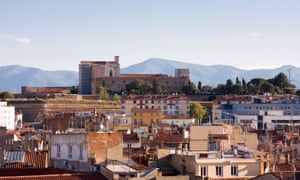 A view across Perpignan towards the mountains south of the city.