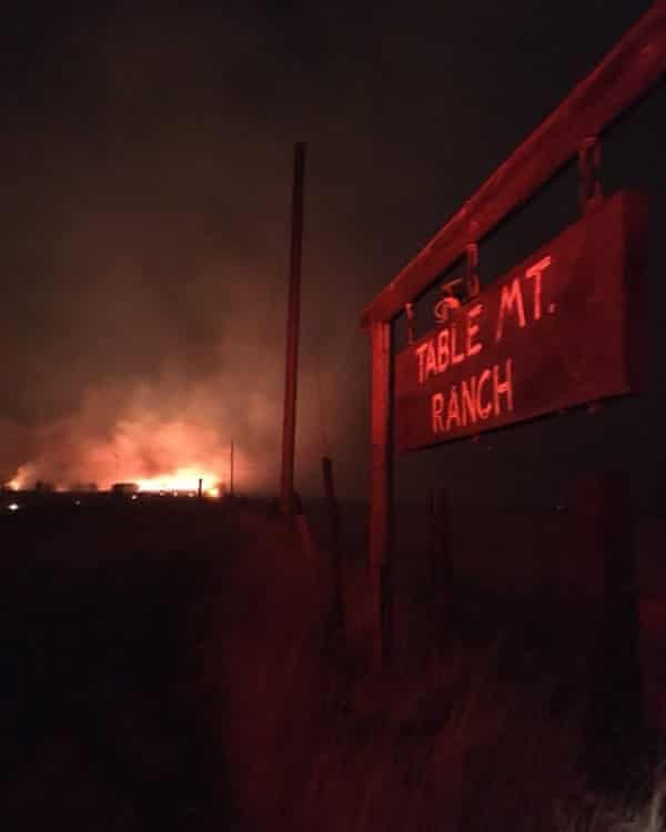 Table mountain ranch during california wildfires