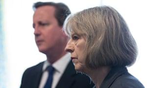 David Cameron and then home secretary Theresa May in 2014.