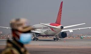 Indira Gandhi airport in the Indian capital of New Delhi.