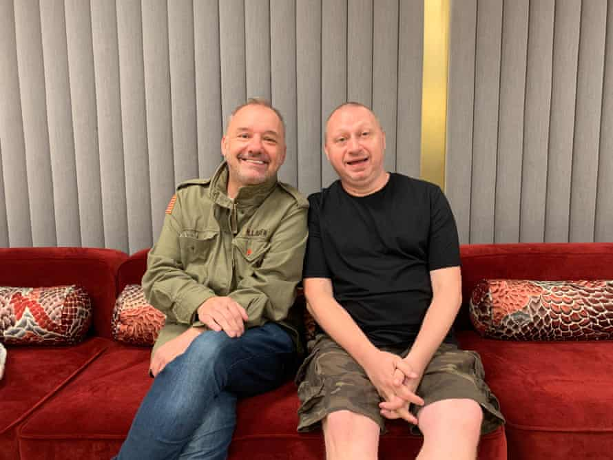 Bob Mortimer and Andy Dawson, hosts of Athletico Mince.