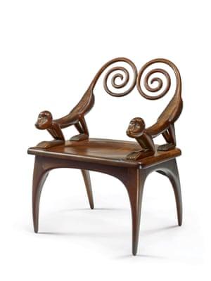 "A ""Monkey"" armchair by Judy Kensley McKie"