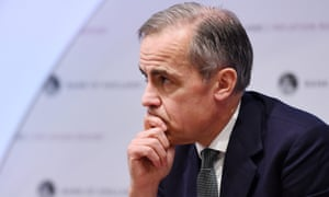 Governor Mark Carney: the Bank of England cut its growth forecast for 2019 from 1.7% to 1.2%.