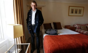 Wyn Roberts in his staff accommodation at the Aucrannie Resort on Arran