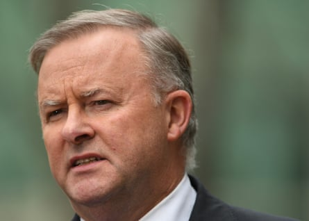 Anthony Albanese during a press conference on the family court inquiry in September 2019