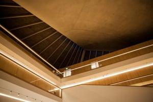 The museum's 'theatrical' atrium designed by John Pawson.