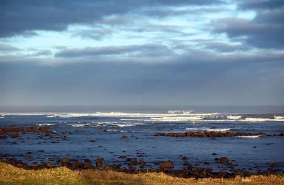 The South Taranaki rocky coastline