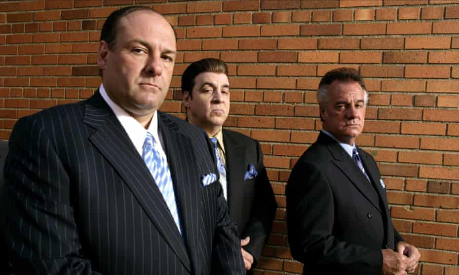 Men of appalling vice yet solemnly bound by their code … Tony Soprano with Silvio and Paulie Walnuts.