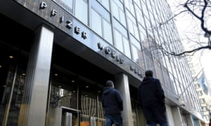 The Pfizer world headquarters in New York is likely to relocate to Ireland, where corporation tax is lower as a result of its deal with Allergan