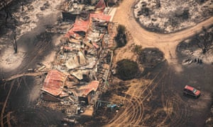 Fire-damaged properties in East Gippsland