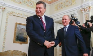 Viktor Yanukovych and Vladimir Putin in 2012.