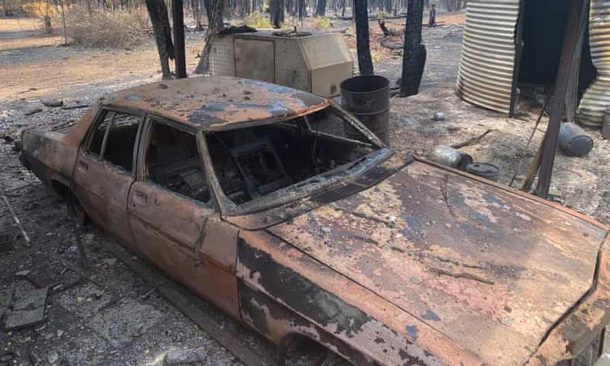 Steve and Danny spent thousands of dollars restoring a 1979 Holden Statesman, but it was destroyed in the blaze