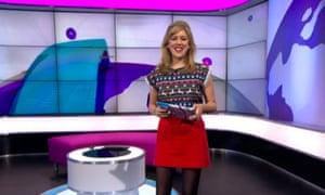 female Newsround presenter