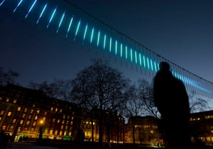 Meanwhile, Northern Lights, by Swedish artist Aleksandra Stratimirovic, channels the Aurora Borealis in Grosvenor Square.