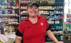 Amy Hardin, who works the register at Green Pond Grocery.