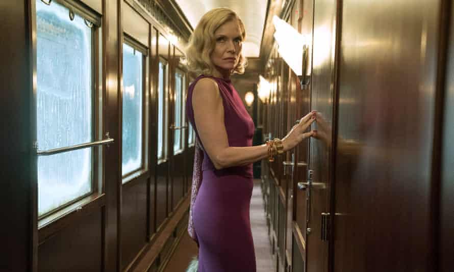 Michelle Pfeiffer in Murder on the Orient Express.