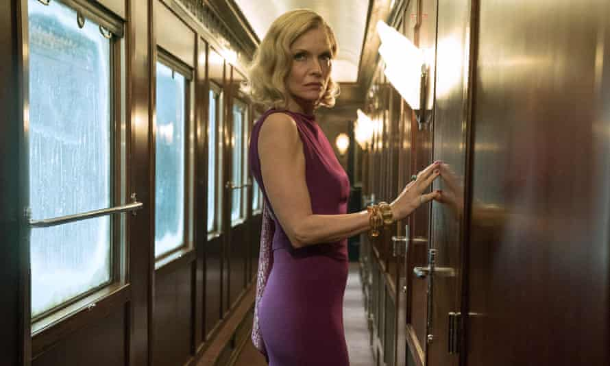 Track star … Michelle Pfeiffer as Mrs Hubbard in Murder on the Orient Express.