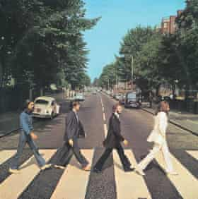 The album cover for Abbey Road.