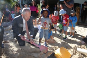 Malcolm Turnbull visits the Good Start early learning centre in Isaacs.