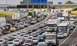 Traffic jam on a motorway