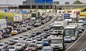 Motorway traffic at a standstill