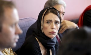 Jacinda Ardern in Christchurch on Saturday. She said she planned to introduce stricter gun laws after the massacres in the city on Friday.