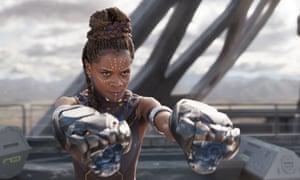 Letitia Wright in a scene from Black Panther. The film is already breaking box office records.