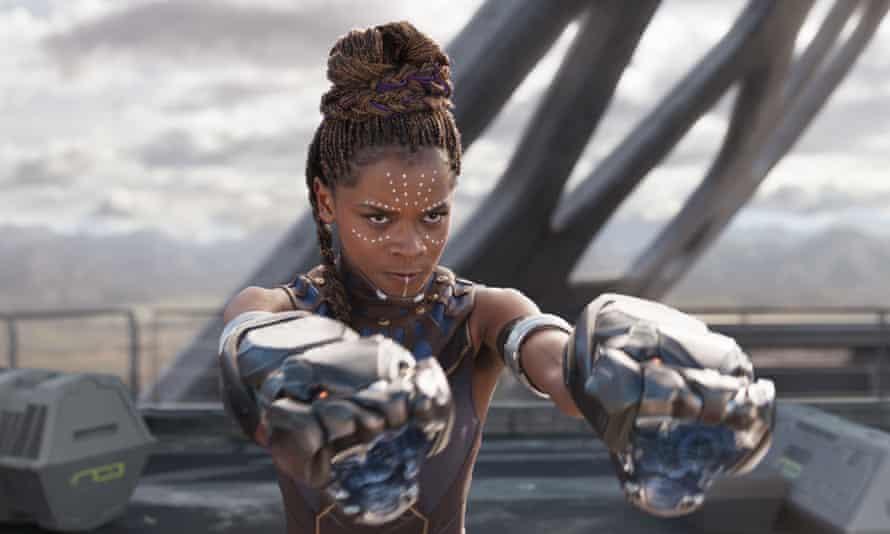 Rising Star award winner Letitia Wright in Black Panther.