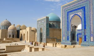 Mausoleums in Samarkand, Uzbekistan.