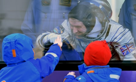With his sons, Thomas and Oliver, pre-launch: 'That was... heart-wrenching, yeah.'