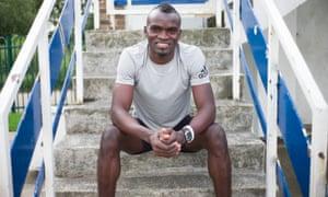 Jimmy Thoronka, top 100m sprinter from Sierra Leone.